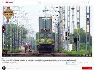 インドの貨物列車